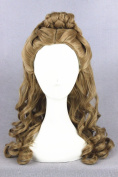 50cm Length Curly Shoulder Wigs Cosplay Brown Wig With Fringe