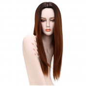 Synthetic Wigs 70cm Straight Synthetic Wigs Long Dark Root Red Body Heat Resistant African American Wigs