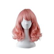 OUO HAIR Pink Wig Short hair women fashion pear flower head short hair high temperature wire wig
