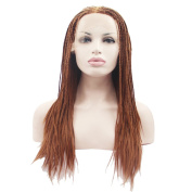 OUO HAIR Europe and United States African Braids Lace Wigs Before The Hand-Pinned Fine Hair High-Temperature Wire