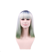 OUO Hair Europe and the United States to change the colour of the wig grass green in the sea of short hair high temperature wire wig