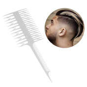 FTXJ Salon Barber Professional Hair Dyeing Comb Brush Fish Tail Bone Shape Comb