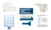 DIY Lip Balm Kit - Make DIY Lip Balm! Start Your Own DIY Lip Balm Business-Tray, 50 Empty Clear Lip Balm Tubes, Pitcher, 60 DIY Sticker Labels-Chapstick Labels Printable-Professional DIY Lip Balm Kit