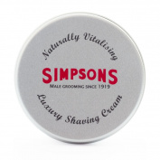 Simpson Shaving Cream, Lavender & Vetivert, 125ml Tin