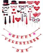 [USA-SALES] Happy Valentines Day Set : Props + Banner, Valentines Day Decorations, by USA-SALES