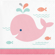 Creative Converting 322189 192 Count Beverage Paper Napkin, Lil' Spout Pink