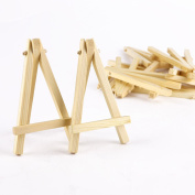 10pcs Mini Wood Artist Easel Wedding Table Number Place Name Card Stand Display Holder