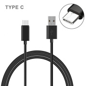 LG G6 Compatible Black 1.8m Long Type-C Cable Rapid Charge USB Wire Sync USB-C Power Data Link Cord Supports Fast Charging
