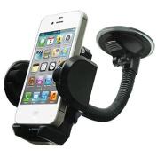 LG G6 Compatible Car Mount Windshield Phone Holder Rotating Cradle Stand Window Glass Dock Suction Gooseneck