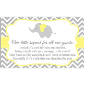 Elephant, Baby Shower, Bring A Book Inserts, Navy, Blue, Boys, Grey, Chevron, Stripes, Sprinkle, Little Peanut, 24 Printed Cards,, Customised, Grey