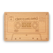 Fred Cheesey love Songs Cheese/Cutting Board, 27cm x 18cm , Wood