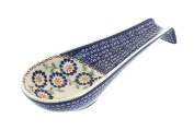 Polish Pottery Peach Blossom Large Spoon Rest