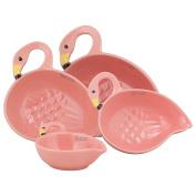 10 Strawberry Street MC-FLMG-S4 Flamingo Measuring Cups (Set of 4), Pink