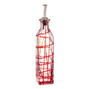 Cypress Home Red Confetti Glass Oil Bottle