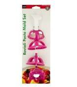 4 Piece Pink Ravioli Maker/ Stamp & Mould Set