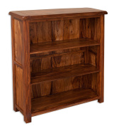 Vellar Living Indian Rosewood Small Bookcase / Solid Sheesham Rosewood Low Bookcase / Chunky Living Room Furniture