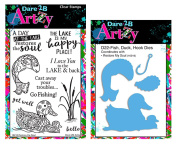 Dare 2B Artzy Restore The Soul Clear Cling Rubber Stamp Set (16216) and D22 Bronze Steel Die Bundle 2 Items