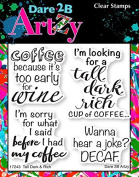 Dare 2B Artzy Tall, Dark & Rich (17243) Clear Cling Rubber Stamp Set