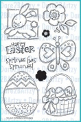 Dare 2B Artzy Spring Has Sprung (12041) Clear Cling Rubber Stamp Set