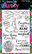 Dare 2B Artzy Raggity Rabbit (17240) Clear Cling Rubber Stamp Set
