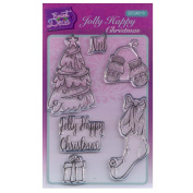 Sweet Dixie A6 Clear Stamp Set - SDCSA6110 Jolly Happy Christmas