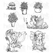 Heartfelt Creations Wildwood Cottage Darlings Cling Stamp Set HCPC-3770