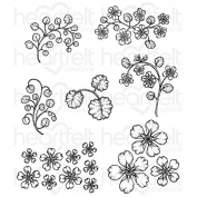 Heartfelt Creations Wildwood Florals Cling Stamp Set HCPC-3769