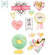 3d Love Stickers by Remarks