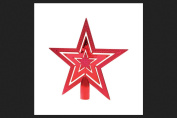 CUTOUT TREETPR STAR RED