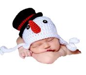 Haahaha Creative Baby Snowman Hat Crochet Knitted Hat Costume Cap