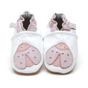 Luxury Leather Baby Shoes Ladybird 12-18 months