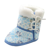 Zhhlinyuan Unisex Baby Winter Warm Soft Toddler Boots Shoes Infant Gift One Size