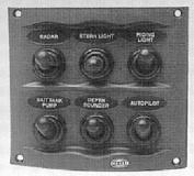 HELLA H73070031 Grey 2-Row 4-Way Compact Switch Panel