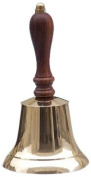 Thor Nautical Solid Brass Hand Bell, 18cm