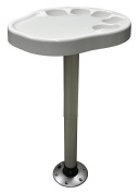 Wise 3070-710 Party Platter Table White with Post