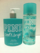 Victoria's Secret PINK Cool & Bright Body Lotion and Body Mist Set