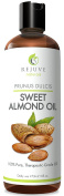 Cold Pressed Sweet Almond Oil, 470ml - 100% Pure, All Natural, Therapeutic Carrier Oil & Moisturiser for Massage, Skin, Hair Growth, Cuticles & Cooking (Food Grade), Chemical Free by RejuveNaturals