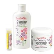Cream Facial Scrub and Pore Cleansing Pads