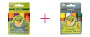 Badger Company, Organic Classic Lip Balm Sticks, 4 Lip Balm Sticks, .440ml Each AND Badger Company, Classic Lip Balm Sticks, 4 Sticks, .440ml Each - BUNDLE
