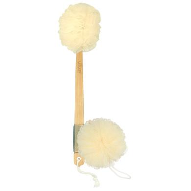 Loofah Back Scrubber by Vive - Long Handled Exfoliating Bath & Shower Body Brush Luffa Sponge w/ String for Hook - Men & Women - Vive Guarantee