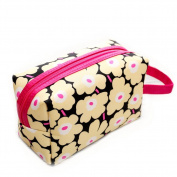 Drasawee Women's PU Travel Accessory Cosmetics Organiser Toiletry Makeup Bag Handbag Yellow