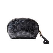 Drasawee Women's Shell Waterproof PU Cosmetics Organiser Bag Hand Bag Coin Purse Grey