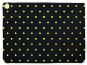 Fringe Studio Gold Dot Faux Leather Large Pouch