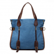 TOPCHANCES Canvas Retro Shoulder Messenger Multi-function Hit Colour Bag