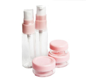 1 Set Portable Travel Bottles Containers Set Leak Proof Makeup Cosmetic Travel Accessories