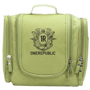 Travel Toiletry Bags 1 Republic Logo OneR Washable Bathroom Storage Hanging Cosmetic/Grooming Bag For Household Business Vacation, Multi Compartments, Waterproof Lining