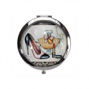 Harry D Koenig Beauty Under Glass Collection Compact Double Mirror