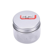 1 Pcs Aluminium Tin Jars,Cosmetic Sample Tins Empty Container, Round Pot Screw Cap Lid, Small Ounce for Lip Balm,Make Up,Eye Shadow,Powder,Gems,Beads,Jewellery,40ml by Team-Management