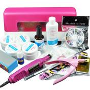 Beauties Factory UV Gel Nail Set with Nail Drill & 9W UV Lamp