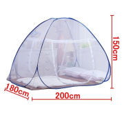 DmsBanga 2017 Summer Camping New Most Popular Mosquito Net for Bed Pop Up Nursery Guard Tent Folding Bottom Moustiquaire Canopy Zipper Baby Toddlers Kids Adult Travel Outdoor